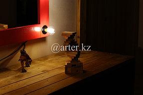 Зеркало гримерное с лампами 3