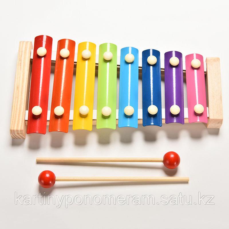 Ксилофон (металлофон) детский деревянный