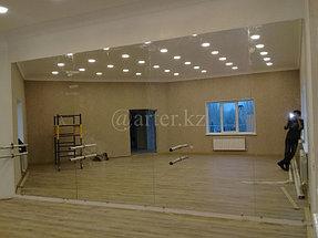 Установка зеркала в хореографический зал 2