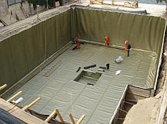 Гидроизоляция резервуаров для воды ПВХ мембраной Декопран