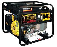 Электрогенератор Huter 6500LX DY с колесами и аккумуляторм