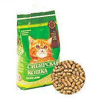 Наполнитель кошачьих туалетов для котят Сибирская Кошка Лесной древесный