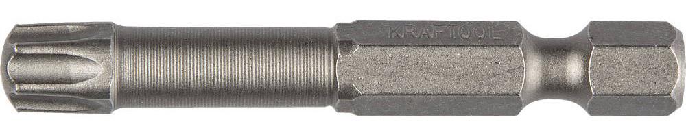 """(26125-30-50-2) Биты KRAFTOOL """"EXPERT"""", торс. кованые, обточенные, тип хвостовика E 1/4"""", Т30, 50мм"""