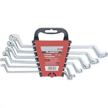 (15331) Набор ключей накидных, 6–17 мм, CR-V, 6 шт., полированный хром