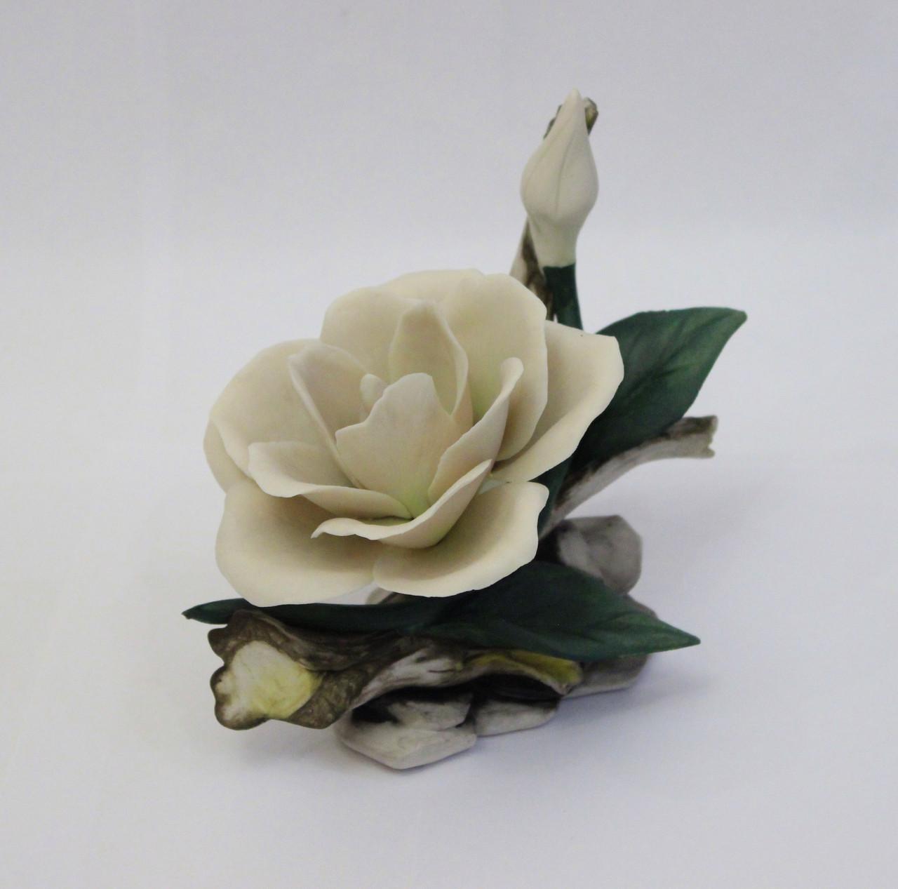 Фарфоровый цветок Гардения. Ручная работа. Италия