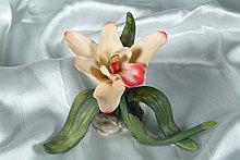 Фарфоровый цветок Орхидея. Италия. Ручная работа