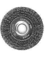 Щетка дисковая для точильно-шлифовального станка, витая стальная проволока 0,3мм, 100х12,7мм, ЗУБР