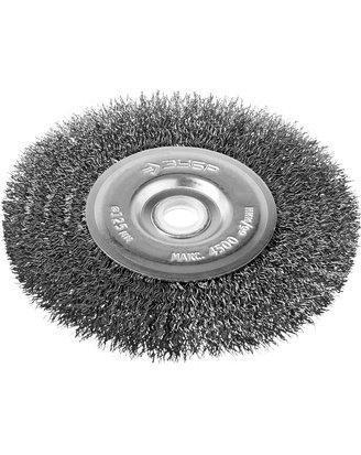 Щетка дисковая для точильно-шлифовального станка, витая стальная проволока 0,3мм, 125х12,7мм, фото 2