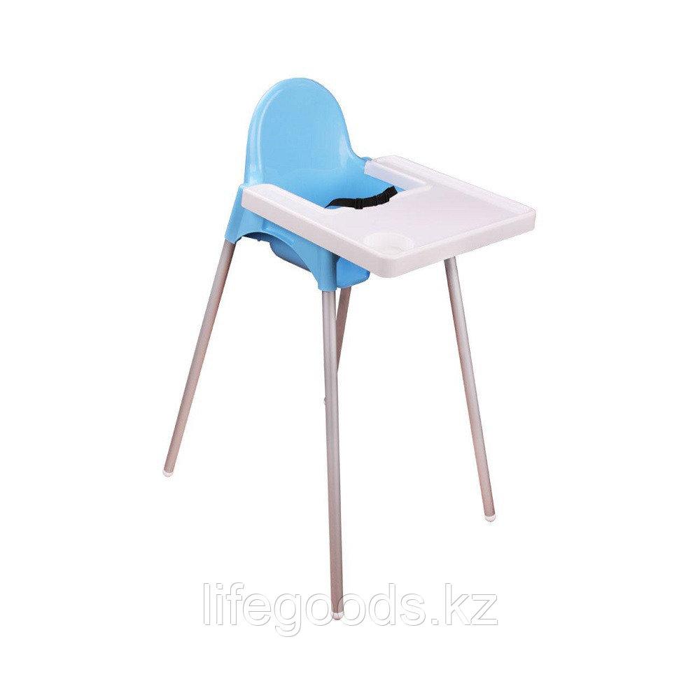 Детский стульчик для кормления (голубой), М6249
