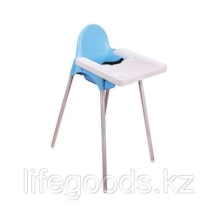 Детский стульчик для кормления (голубой), М6249, фото 2