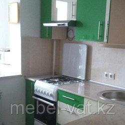 Кухонный гарнитур. Акрил. Белый - Зеленый