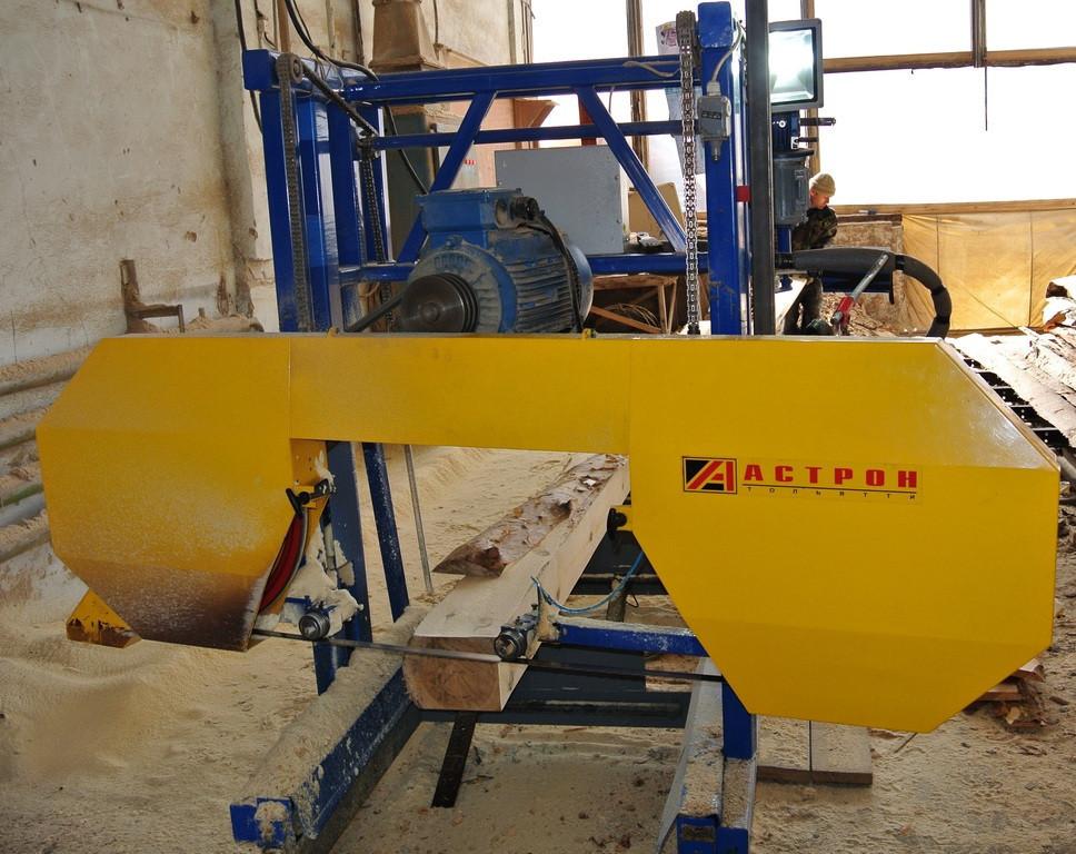 Ленточная пилорама бензиновая Астрон-9.02 двигатель Lifan 13л.с