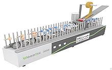 Станок для облицовывания погонажных изделий мод. «WoodTec 300B»
