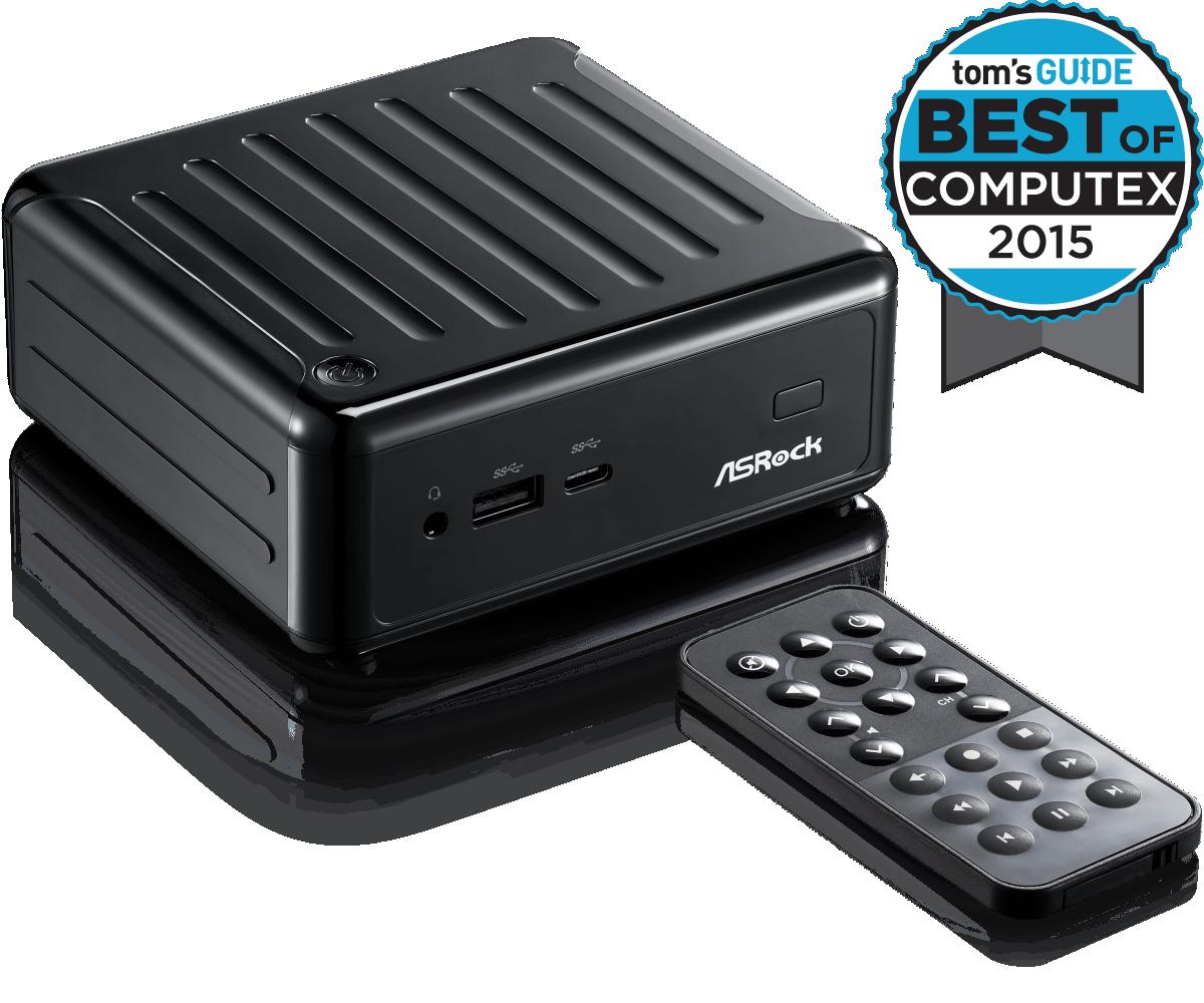Мини-ПК ASRock BEEBOX N3010/B/BB N3010 (2,24GHz), 2xSO-DIMM DDR3L, 1xSATA3, 1x WiFi BT4.0 mSATA На лицевой пан