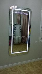 Зеркало с логотипом и подсветкой 1