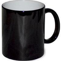 Кружка керамическая хамелеон черный