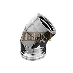 Сэндвич колено Ferrum 430/0,5мм 45° Ф120х200