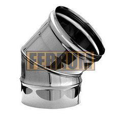 Колено Ferrum 430/0,5мм 45° Ф 120