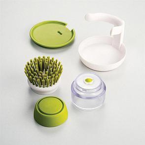 Щетка для мытья посуды с дозатором моющего средства, фото 2