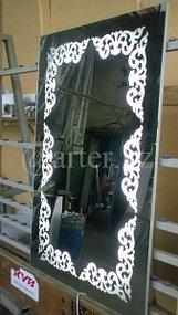 Зеркало с подсветкой в виде орнамента 1