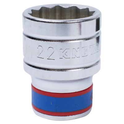 "Головка торцевая стандартная двенадцатигранная 1/2"", 22 мм KING TONY 433022M"