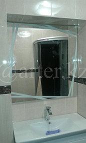 Зеркало с пескоструйным рисунком над раковиной 1