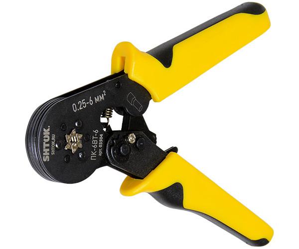 Пресс-клещи для опрессовки втулочных наконечников 0.25-6 мм2 ПК-6вт-6, SHTOK.