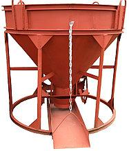 Бадья для бетона рюмка бн-0.5 лоток воронка