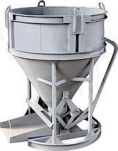 Бадья для бетона рюмка бн-0.5 лоток