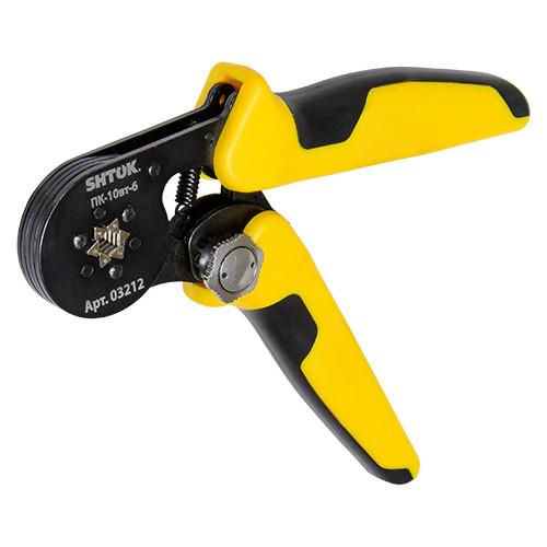 Пресс-клещи для опрессовки втулочных наконечников 0.25-10мм2 ПК-10вт-6, SHTOK.