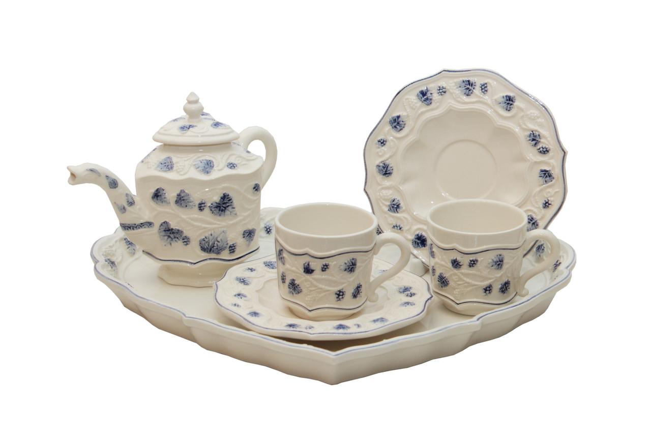 Чайный сервиз для двоих Сердце. 6 предметов. Керамика. Италия