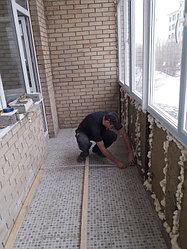 Утепление балкона с обшивкой декор панелью Акбулак 3 12