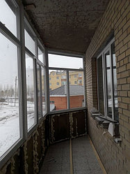 Утепление балкона с обшивкой декор панелью Акбулак 3 9