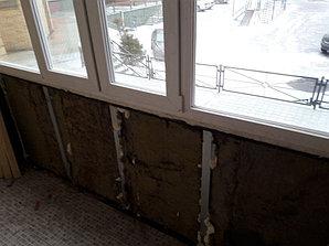 Утепление балкона с обшивкой декор панелью Акбулак 3 7
