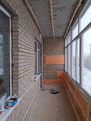 Утепление балкона с обшивкой декор панелью Акбулак 3 26