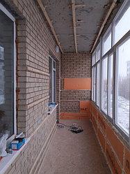 Утепление балкона с обшивкой декор панелью Акбулак 3 8