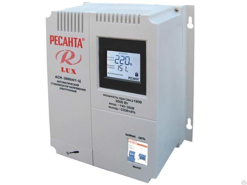 Стабилизатор АСН-3000Н/1-Ц Ресанта Lux