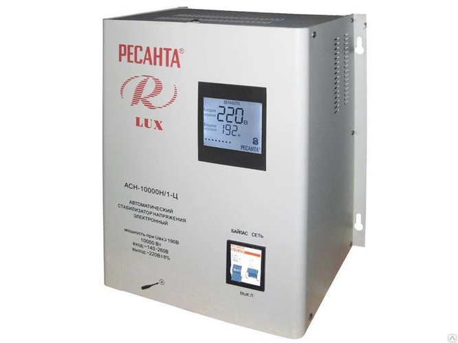 Стабилизатор АСН-10000 Н/1-Ц Ресанта Lux