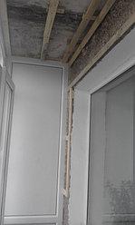 Установка балконной рамы с обшивкой балкона по всему периметру. ул. Бесекпаева 3 3