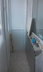 Установка балконной рамы с обшивкой балкона по всему периметру. ул. Бесекпаева 3 4