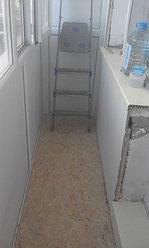 Установка балконной рамы с обшивкой балкона по всему периметру. ул. Бесекпаева 3 7
