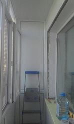 Установка балконной рамы с обшивкой балкона по всему периметру. ул. Бесекпаева 3 8