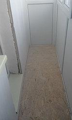Установка балконной рамы с обшивкой балкона по всему периметру. ул. Бесекпаева 3 9