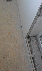Установка балконной рамы с обшивкой балкона по всему периметру. ул. Бесекпаева 3 10