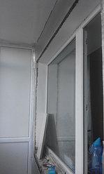 Установка балконной рамы с обшивкой балкона по всему периметру. ул. Бесекпаева 3 14