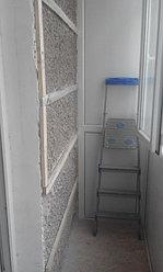 Установка балконной рамы с обшивкой балкона по всему периметру. ул. Бесекпаева 3 20