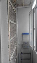 Установка балконной рамы с обшивкой балкона по всему периметру. ул. Бесекпаева 3 21
