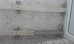 Установка балконной рамы с обшивкой балкона по всему периметру. ул. Бесекпаева 3 23
