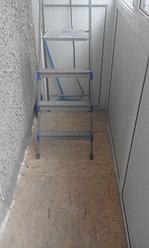 Установка балконной рамы с обшивкой балкона по всему периметру. ул. Бесекпаева 3 28