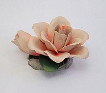 Фарфоровый цветок Роза с бутоном. Италия. Ручная работа